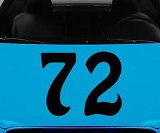 Startnummer Aufkleber Nummer wählbar Motorrad Sticker  Autoaufkleber 2J070/_2