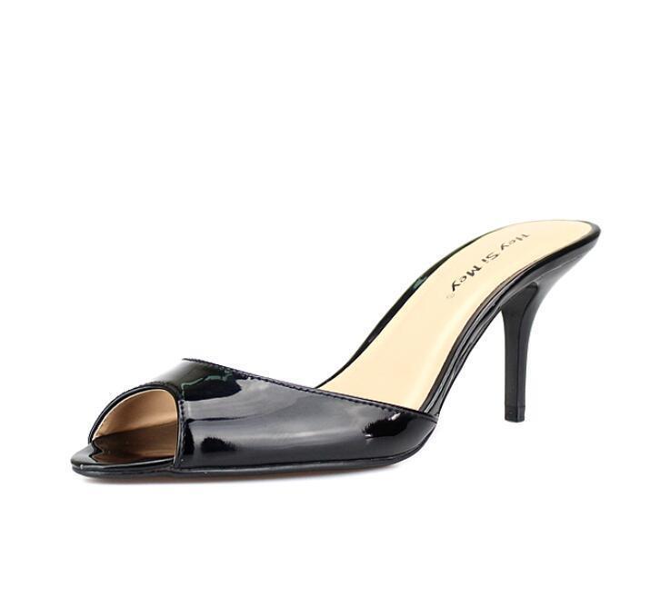 Sexy femmes 7cm Peep Toe Pump Stilettos High Heel chaussures Uk Sz35-48