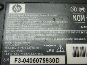Power-Supply-HP-PPP009H-239427-003-Adapter-18-5V-3-5A-AC-DC-Cable-For-Laptop