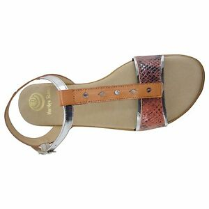 Details about Size 11 Orange and Metallic Flat TBar Sandals Made in Spain Big Large Size Shoes