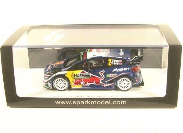 entrega rápida Ford Fiesta WRC No.2 Rally Monte Monte Monte Cochelo 2018 (E. Evans - D. Barra de Paseo)  hasta un 50% de descuento