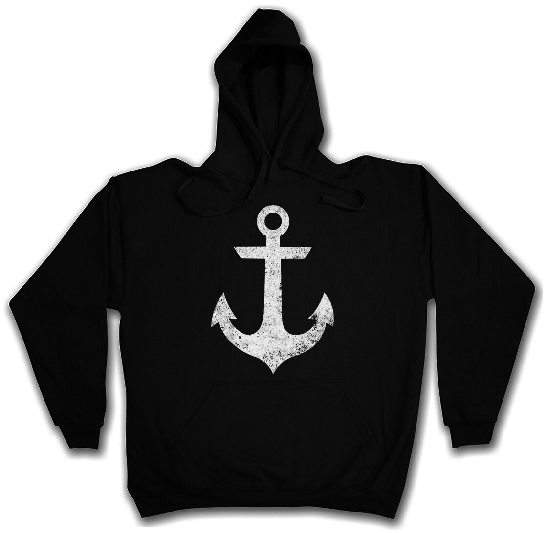 OLDSCHOOL ANCHOR VINTAGE LOGO HOODED SWEATSHIRT HOODIE - Tattoo Nautical Star