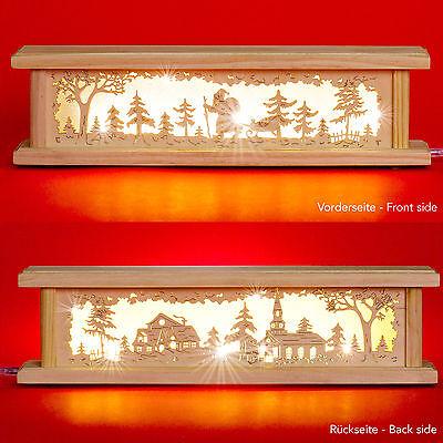 SIKORA LB61 Arche décorative lumineuse de Noël en bois thème maison avec jardin