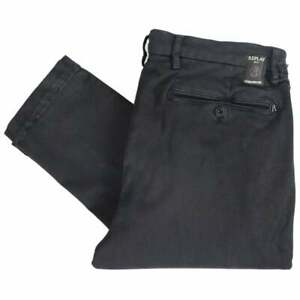 REPLAY-zeumar-HYPERFLEX-Stretch-Nero-Chino-Slim-Fit