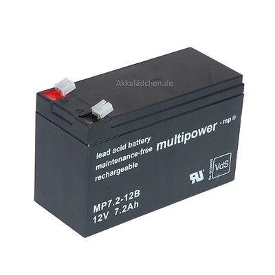 Blei-Gel Akku 12V 7,2Ah für Elektro Kinderauto MERCEDES GL63 AMG Accu Batterie