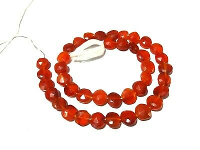natural carnelian faceted rondel sized 3.5mm 1strand