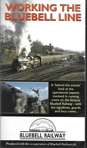 WORKING-THE-BLUEBELL-LINE-VHS-PAL-Steam-Railway