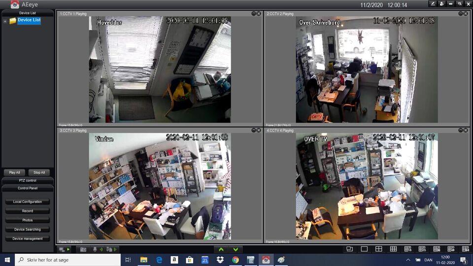5 MP overvågningssæt.Frit valg Bullit /Dome