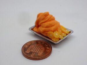 Shop Food Accessory Kitchen 1:12 Scale Orange Ice Cream On Metal Tray