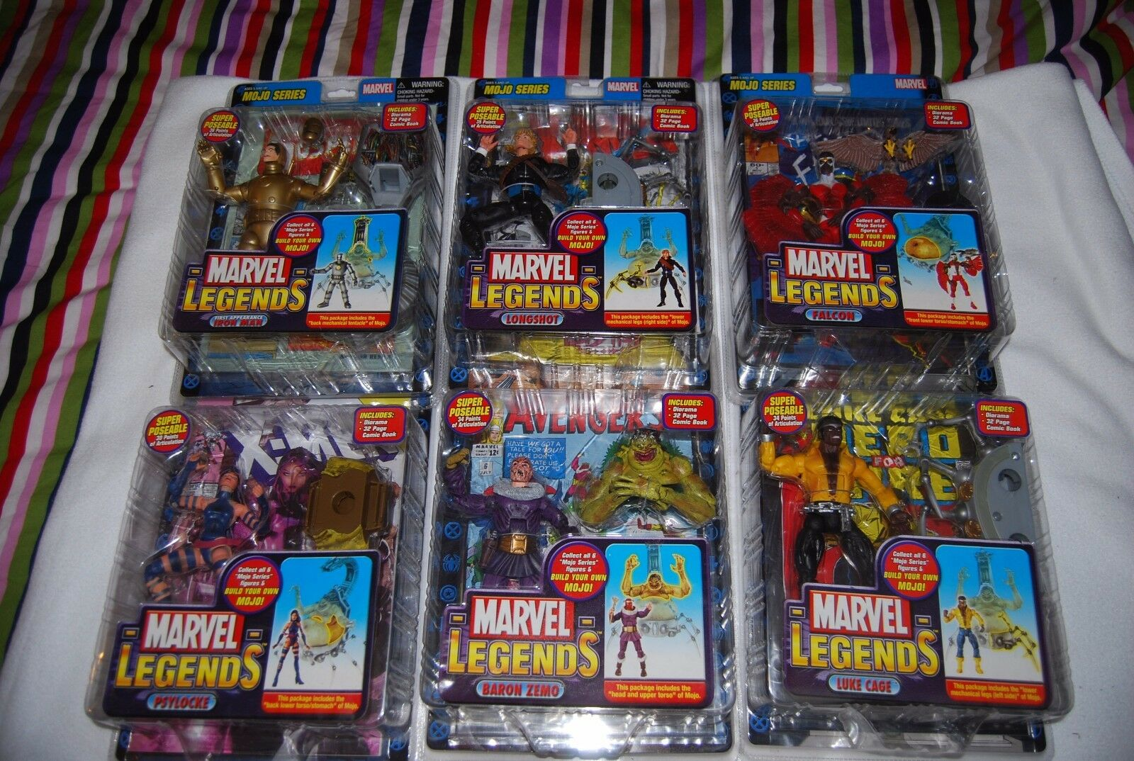 Marvel Legends Build A cifra BAF MOJO Series 2006 Set of 6 Sealed nuovo VARIAENTI