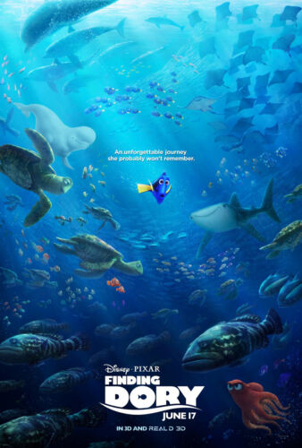 A3//A4 SIZE 2016 Action Movie POSTER PRINT ART #21 Finding Dory