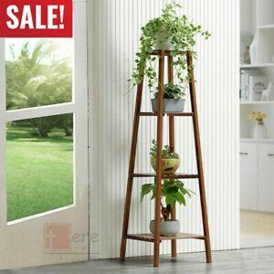 4-Tier-Wood-Plant-Stand-Garden-Decor-Planter-Holder-Flower-Pot-Shelf-Rack-Home