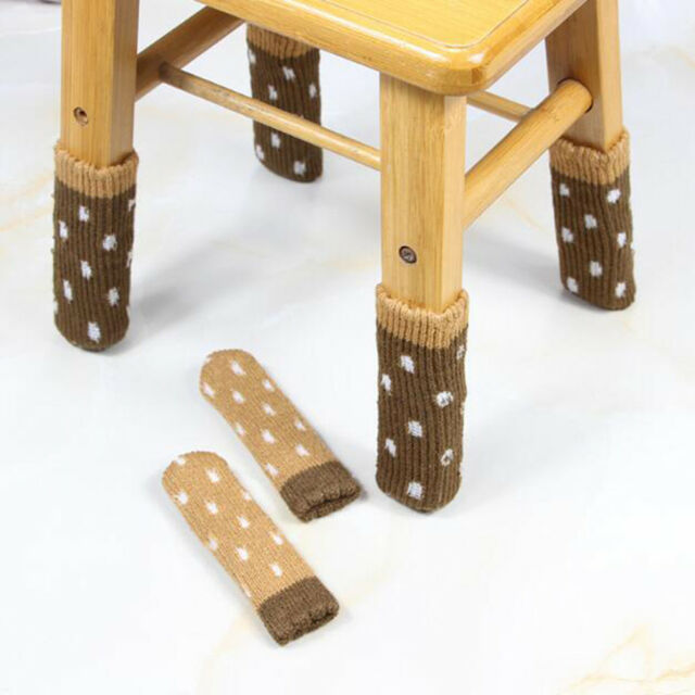 4Pcs table chair foot leg knit cover protector socks sleeve protect floor wBLUS