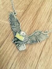Harry Potter Hogwarts Acceptance Letter & Flying Hedwig Necklace Pendant Gift