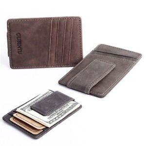 Hombre-Billetera-Cartera-monedero-de-cuero-titular-de-tarjeta-credito