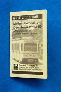 Sacramento-RT-Light-Rail-Mather-Field-Mills-Downtown-Watt-I-80-9-6-98
