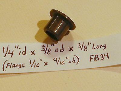 Nylon Flange Bushing New 1//4 id x 3//8 od x 3//8 Brass Bronze Motor bearing F34