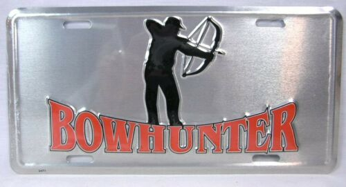 Bow Hunter License Plate Car Truck Auto Tag Deer Duck Hunting Man Cave Archery