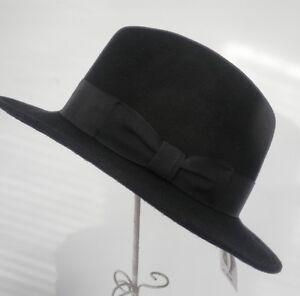 FEMMES-chapeau-pour-hommes-COURANT-strasenhut-Noir-Unisexe