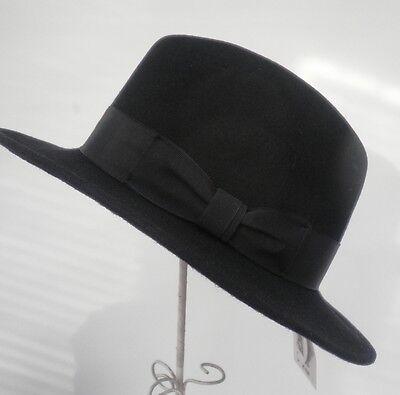 Damen/Herrenhut aktueller Straßenhut schwarz UNISEX Damenhüte Herrenhüte Mützen