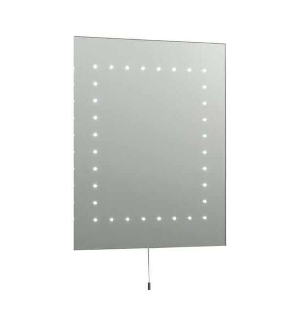 Saxby 13758 MAREH Mirrored Glass & Matt Silver Effect LED Bathroom Mirror Light