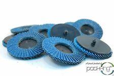 10pk 3 Inch 60 Grit Flap Sanding Disc Wheels Type R Roloc Threaded Twist Lock