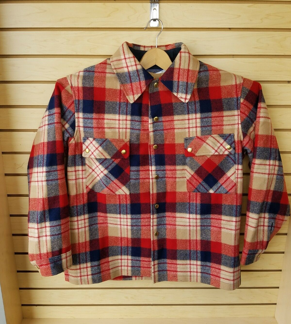 Vtg Pendleton Mens 100% Virgin Wool Heavy Flannel Button Down Shirt XL