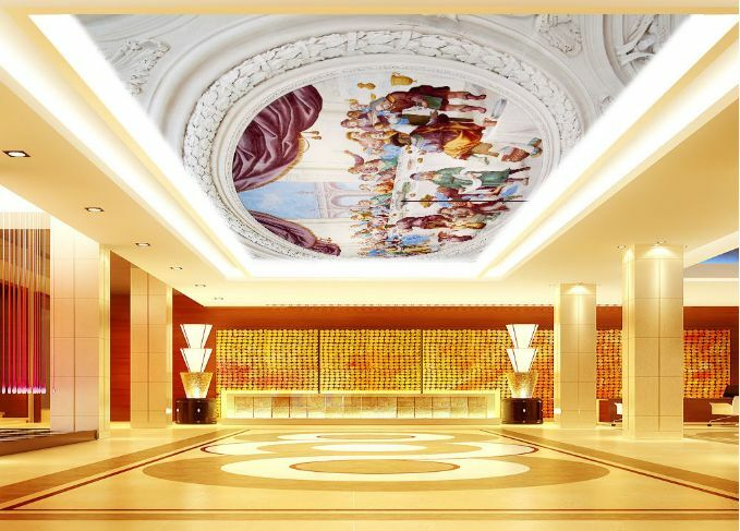 3D Human Paradise Ceiling WallPaper Murals Wall Print Decal Deco AJ WALLPAPER GB