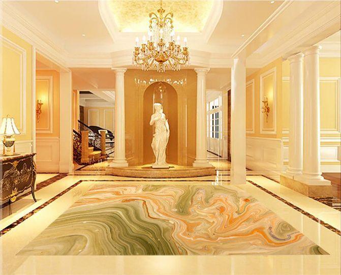 3D Strisce Farbee 286 Pavimento Foto Wallpaper Murales Muro Stampa Decalcomania