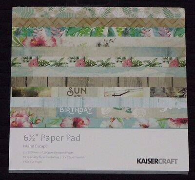 "Kaisercraft /'BEACH SHACK/' 6.5/"" Paper Pad Holiday//Vacation//Cruise KAISER Deleted"