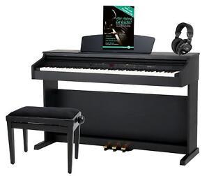 88-Tasten-Digital-E-Piano-Set-Klavier-Keyboard-Kopfhoerer-Bank-Noten-Schule-Black