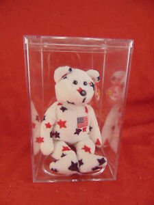 caba3914c40 Beanie Baby GLORY patrotic bear red white blue born July 4th Ty ...