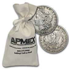 Morgan & Peace Silver Dollar Coins - 100 Coin Bag - Random Years - Cull