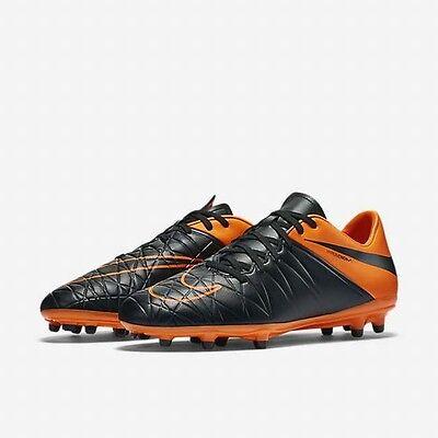 size 40 e040a 56623 Nike Hypervenom Phelon II TC FG Black Total Orange soccer firm ground  807515-008 | eBay