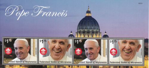 Micronesia 2014 MNH Pope Francis 4v MS II Popes Roman Catholic Church Religion