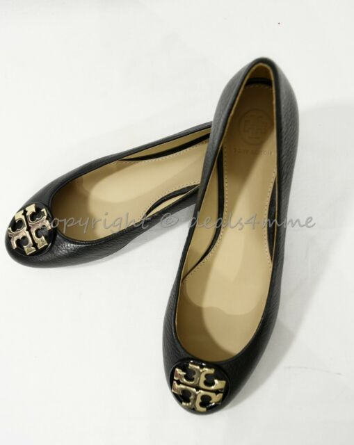 65ab4e39e Tory Burch Claire Reva Leather Ballet Flats Black  Gold 8. About this  product. Picture 1 of 10  Picture 2 of 10  Picture 3 of 10  Picture 4 of  10. 7