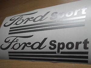FORD SPORT  VINYL CAR STICKERS x2