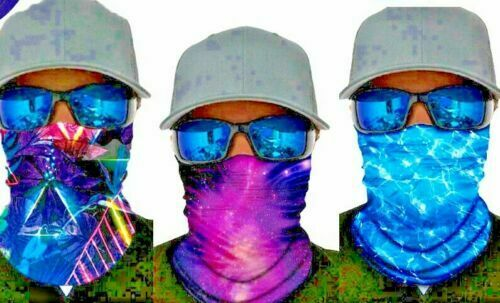 UV SUN PROTECTION FACE MASK,NECK SCARF,Fishing,Boating,Fly Gaiter Cover Scales