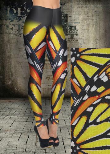 NEW WOMEN/'S LEGGINGS MONARCH BUTTERFLY PRINT LONG LENGTH YOGA PANTS GYM FITNESS