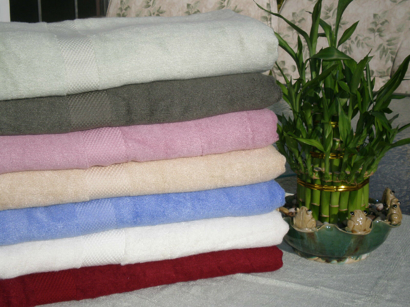 100% Bamboo Towels 6 pcs, 2 bath towels, 2 2 2 bath towels, 2 washcloths eb58b0