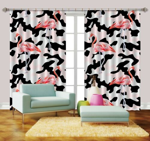 3D Art Herons 72 Blockout Photo Curtain Print Curtains Drapes Fabric Window AU