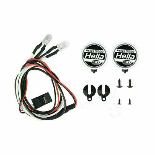 For 1//10 Tamiya Grasshopper 2 RC Car Searchlight LED Lights Lamp with Cover Kit
