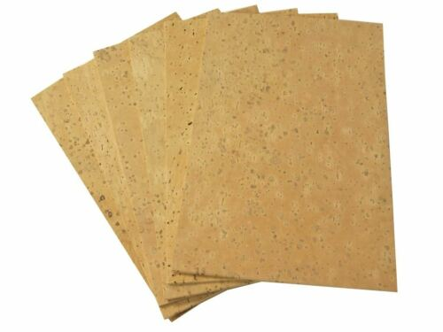 "1//16/"" Natural Sheet Cork for Clarinet Saxophone 1.6mm 6 Pack"