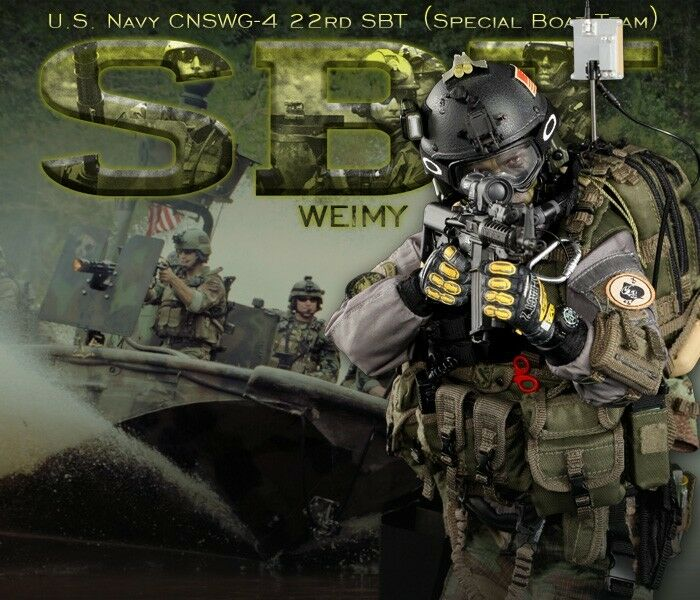 DID US NAVY CNSWG-4 22nd SBT (special boat team) WEIMY 1 6 Figure