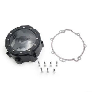 Black Left Engine Stator Cover See Through For Kawasaki 2006-2014 ZX14R ZZR-1400