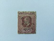 1906 Malaya Straits Settlements KEVII Watermark Multiple Crown CA 25c