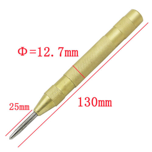 5/'/' Automatic Center Pin Punch Strike Spring Loaded Marking Starting Holes Tool