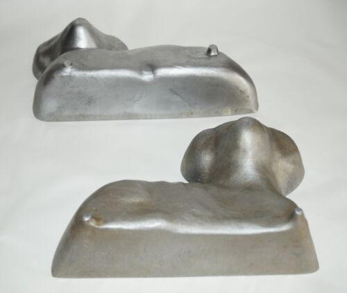 █ 2 alte Backformen aus Aluminium - Osterlamm / Lamm  (# 4827)  █