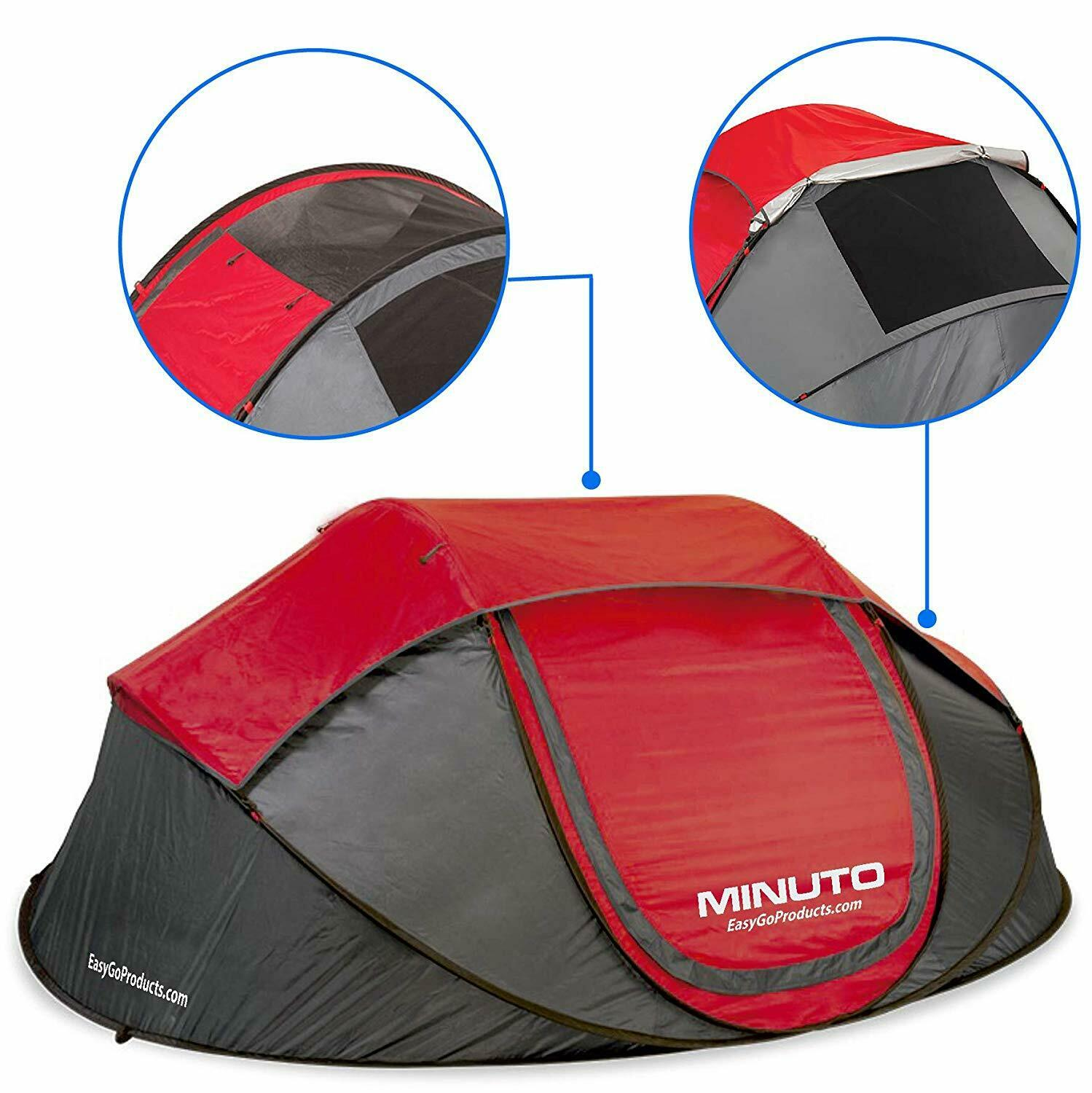 4 Person Easy Set Up Cabin Instant Pop Up Dome Waterproof Hiking Camping Tent
