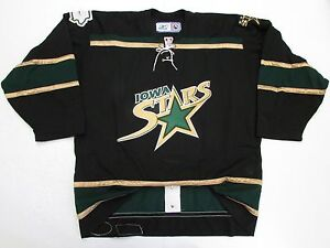51f6740ff2d IOWA STARS AUTHENTIC AHL BLACK PRO REEBOK 6100 HOCKEY JERSEY SIZE 54 ...